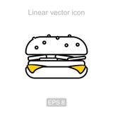 Hamburger. Linear  icon. Stock Photo
