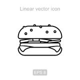 Hamburger. Linear  icon. Royalty Free Stock Image