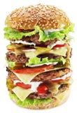 Hamburger lokalisiert auf einem weißen Hintergrund Lizenzfreies Stockfoto