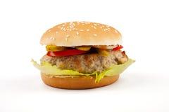 Hamburger lokalisiert auf Weiß Lizenzfreie Stockfotos