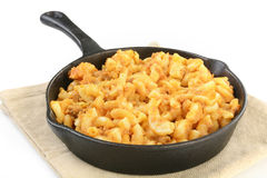 Hamburger macaroni and cheese Royalty Free Stock Image