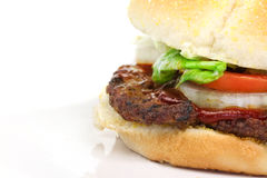 Hamburger macro Stock Image
