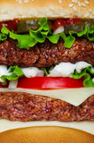 Hamburger macro Royalty Free Stock Photo