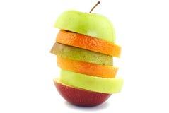 Hamburger made from various fruits Royalty Free Stock Image