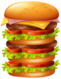 Hamburger with many layers Stock Images