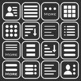 Hamburger Menu Icons Set. Royalty Free Stock Image
