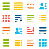 Hamburger Menu Icons Set. Stock Images