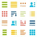 Hamburger Menu Icons Set. Stock Images
