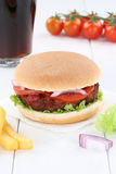 Hamburger menu meal cola drink Stock Photo