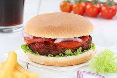 Hamburger menu meal combo drink Royalty Free Stock Image