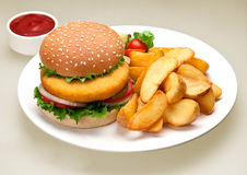 Hamburger. Menu on the playw Royalty Free Stock Photography