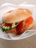 Hamburger met groenten Royalty-vrije Stock Afbeeldingen