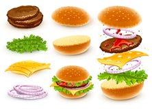 Hamburger met kaas Stock Foto