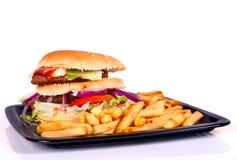 Hamburger mit Fischrogen Stockfotografie