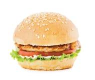 Hamburger mit Fleisch Lizenzfreie Stockfotos