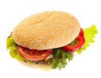 Hamburger mit Gemüse. Stockfoto