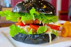 Hamburger noir image stock
