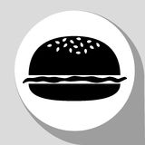 Hamburger noir Image libre de droits