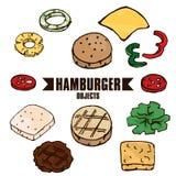 Hamburger object A Stock Photo
