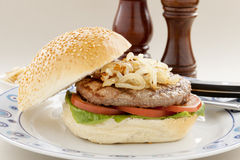Hamburger And Onions Royalty Free Stock Photos