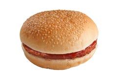 Hamburger op wit Royalty-vrije Stock Afbeeldingen