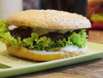 Hamburger outdoor Royalty Free Stock Photo