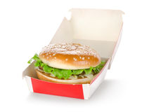 Hamburger in package Royalty Free Stock Photography