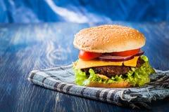 Hamburger on paper Royalty Free Stock Photo