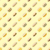 Hamburger pattern Royalty Free Stock Photos