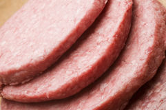 Hamburger patties Stock Photo