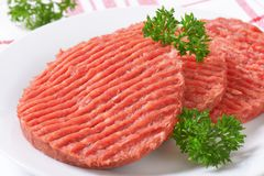 Hamburger patties Stock Image