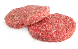 Hamburger patties Royalty Free Stock Images