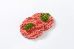 Hamburger patties Royalty Free Stock Images