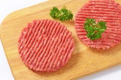 Hamburger patties Royalty Free Stock Photos