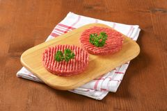 Hamburger patties Stock Photo