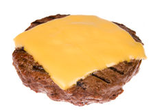 Hamburger patty with cheese Stock Photography