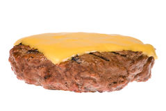 Hamburger patty with cheese Royalty Free Stock Photo