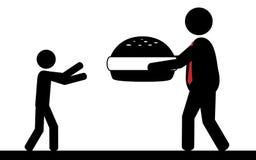 Hamburger per i bambini Immagine Stock Libera da Diritti