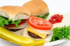 Hamburger And Pickles Royalty Free Stock Photos