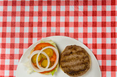 Hamburger at Picnic Royalty Free Stock Photos