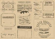 Hamburger Placemat na rzemiosło papierze ilustracji