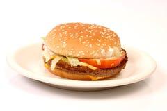 Hamburger on a plate Stock Photos