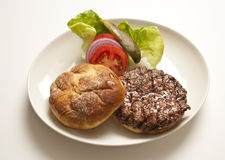 Hamburger on Plate Royalty Free Stock Photography