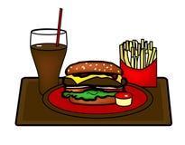 Hamburger Platter Stock Image