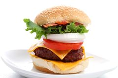 Hamburger platter Stock Images
