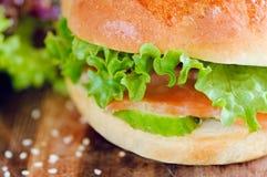 hamburger pora lunchu Zdjęcie Royalty Free