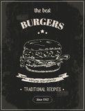 Hamburger poster vector illustration