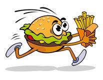Hamburger with potato Stock Photography