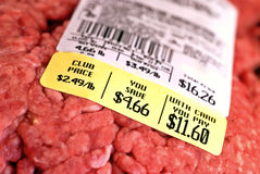 Hamburger Prices Royalty Free Stock Photography