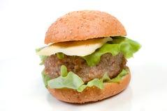hamburger proche vers le haut Photo libre de droits